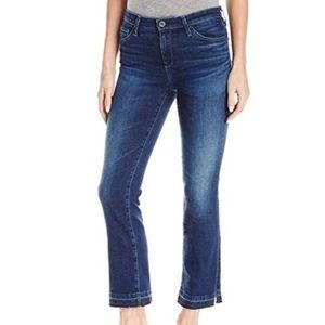 Ag The Jodie Crop High Rise Slim Flare Crop Jeans